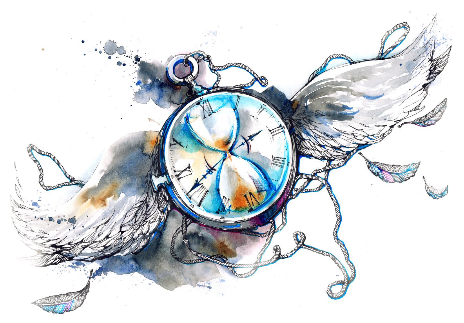 懐中時計と翼